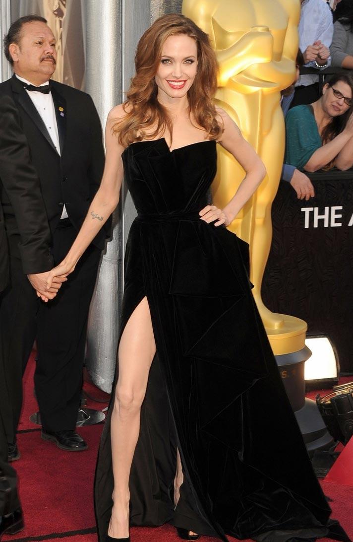 Angelina Jolie Vestidos Oscar 2012