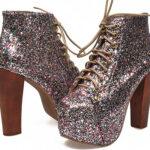 Zapatos con glitter para chicas con onda