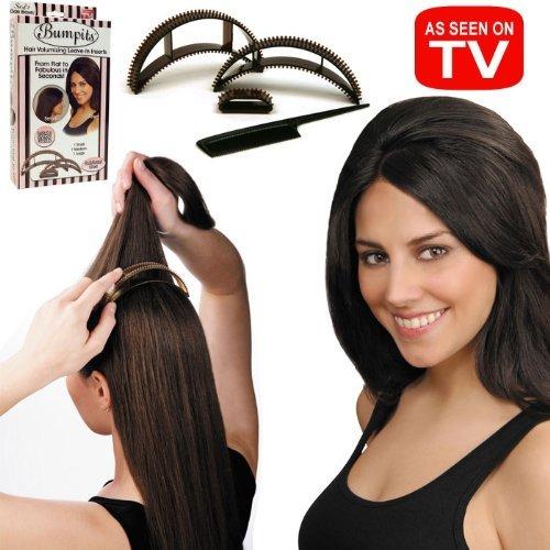 con unas tenacillas haz ondas por todo tu cabello separa un mechn grueso en la zona de la coronilla escrdalo y coloca el bumpit debajo - Peinados Con Tenacillas