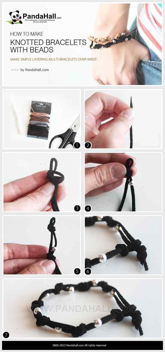 como hacer nudos para pulseras paso a paso
