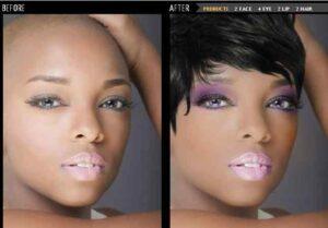Cambio de color de pelo virtual online