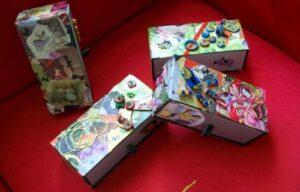 Decorar cajas de madera con papel manualidades de reciclaje - Decorar cajas de madera con papel ...