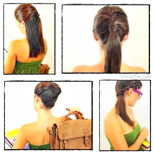4 peinados f ciles para ir a la escuela - Peinados faciles y rapidos paso a paso ...