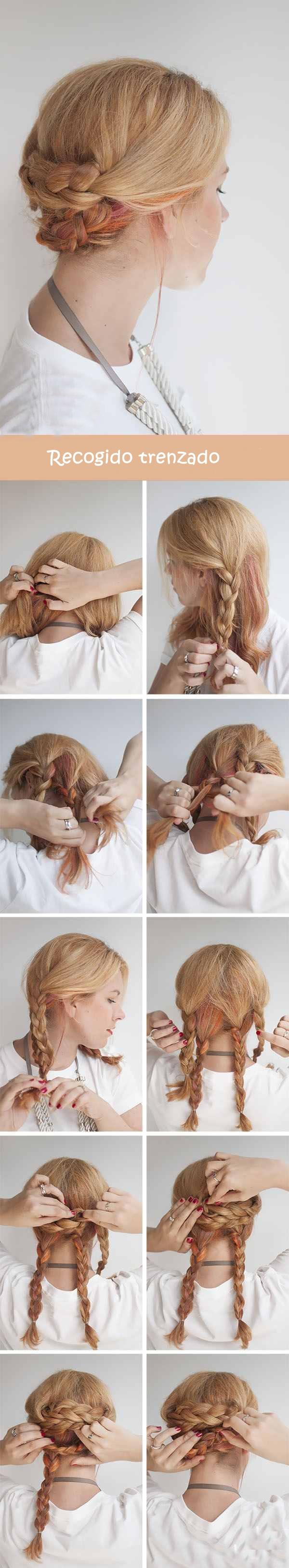 Peinados sencillos y bonitos paso a paso cabello corto for Recogidos bonitos y sencillos