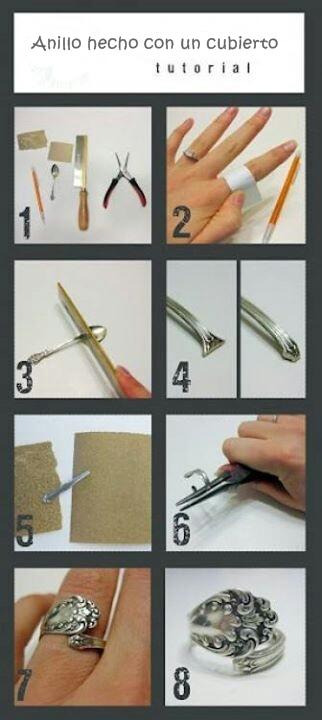 anillo hecho con un cubierto regalos manuales originales paso a paso - Regalos Manuales Originales