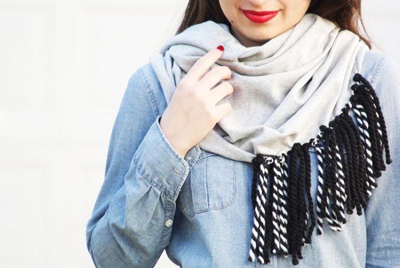 Como hacer bufandas originales - Como hacer una bufanda de lana gorda ...