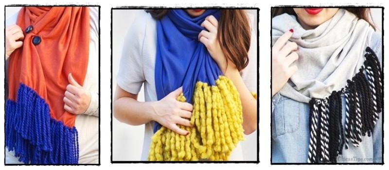 Como hacer bufandas faciles paso a paso