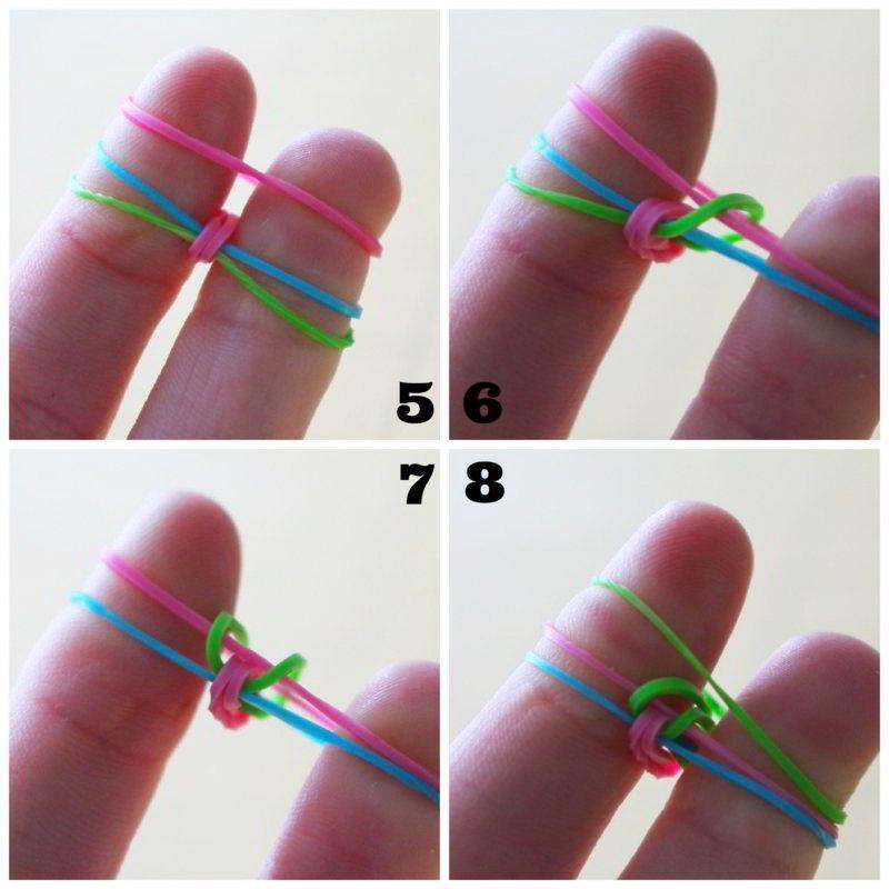 como hacer pulseras con gomas