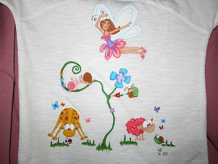 Diy c mo customizar la ropa con pintura - Dibujos para pintar en tela infantiles ...